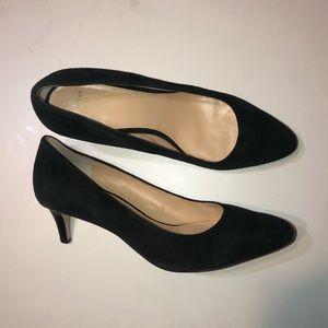 Cole Haan Suede Leather Heels Black Size 8.5